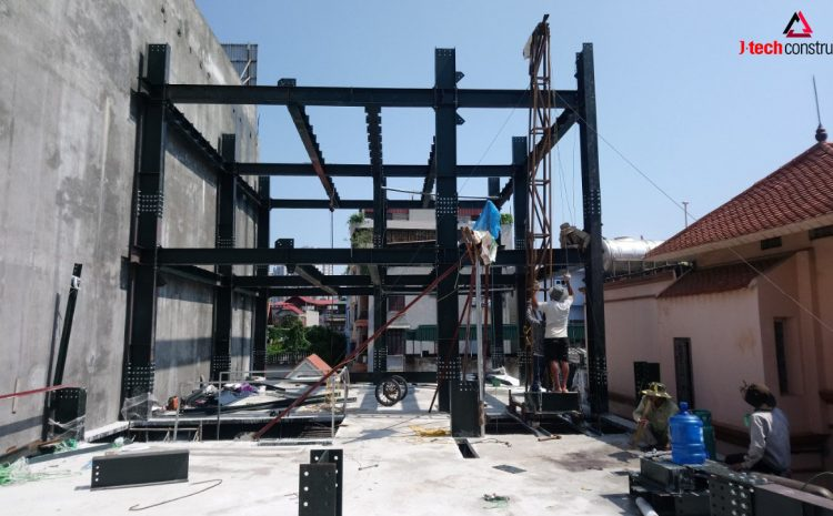 Làm nhà phố bằng kết cấu thép